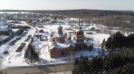 The church of the Exaltation of the Holy cross Church in Darna village, Russia