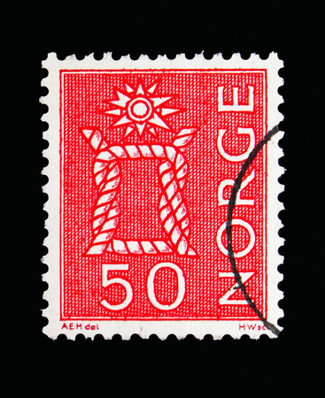 MOSCOW, RUSSIA - MAY 13, 2018: A stamp printed in Norway shows Local Motives, serie, circa 1962