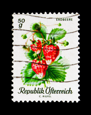 MOSCOW, RUSSIA - AUGUST 18, 2018: A stamp printed in Austria shows , serie, circa 19