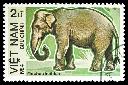 MOSCOW, RUSSIA - SEPTEMBER 26, 2018: A stamp printed in Vietnam shows , serie, circa 19 Redakční