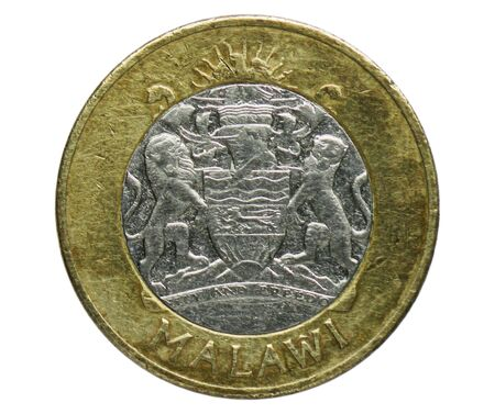 10 Kwacha coin, Bank of Malawi. Reverse, 2006 Imagens - 126116539