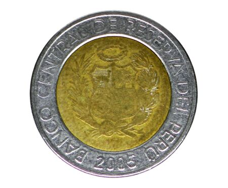 5 Nuevos (New) Soles coin, Bank of Peru. Reverse, issue 1994