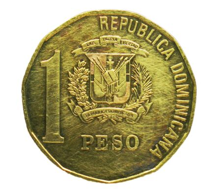 1 Peso coin, Bank of Dominicana. Obverse, issue 1937 Imagens - 126116611