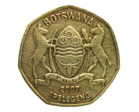 1 Pula coin, Bank of Botswana. Reverse, issue 1991 Imagens - 126116623