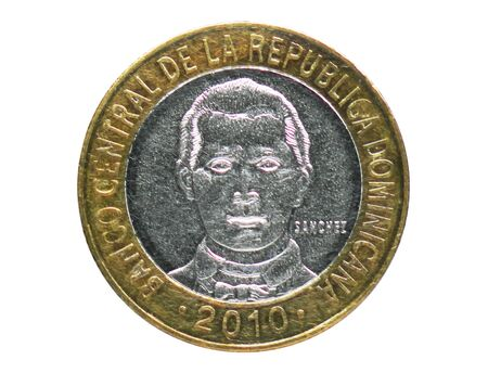5 Pesos (Not Magnetic) coin, 1937~Today - Peso Dominicano (Circulation) serie, Bank of Dominican Republic. Reverse, issue on 2008