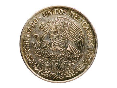 1 Peso coin, 1905~1992 - Estados Unidos Mexicanos (Circulation) serie, Bank of Mexico. Reverse, issue on 1970 Imagens - 127650146