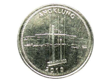 1000 Rupiah (Angklung) coin, 1999-2010 - Fourth series, Bank of Indonesia. Reverse, issue on 2010