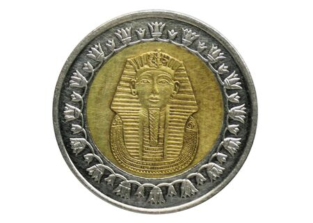 1 Pound (Non Magnetic) coin, 1972-Today - Arab Republic (Circulation), Bank of Egypt. Reverse, issued on 2005 Imagens