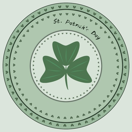 lucky symbol: St. Patricks Day. Stamp Lucky symbol. Vector illustration