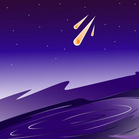 Star galaxy space crater asteroids vector illustration