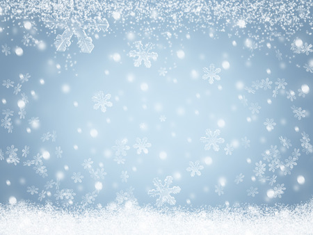 Christmas winter snow background Archivio Fotografico
