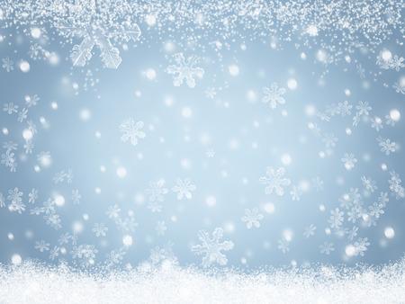 Christmas winter snow background Standard-Bild