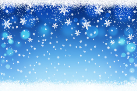 Christmas snowflakes bokeh background