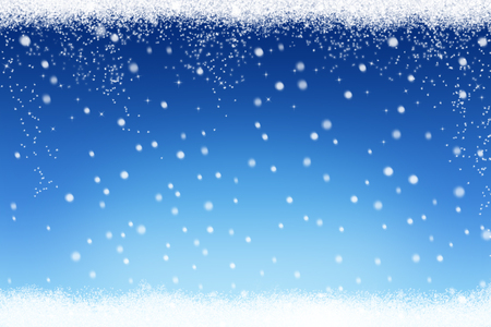 Christmas winter snow background with snowflakes