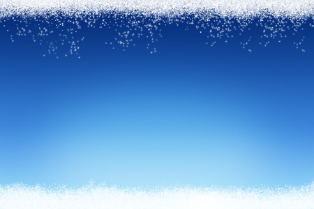 Christmas and winter snow on blue background Stock Photo