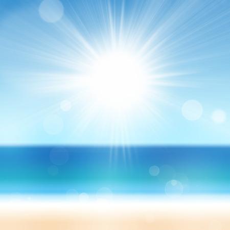 Summer sun beach ocean sea sky vacation holiday travel background