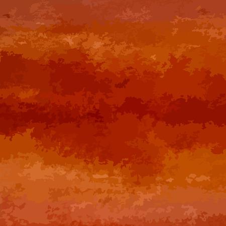 Vector orange watercolor background for your design. Illustration