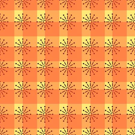 orange pattern: Simple fully editable seamless repeating orange pattern. Bright vector texture design Wallpaper, fabric, linen wrapper. Illustration