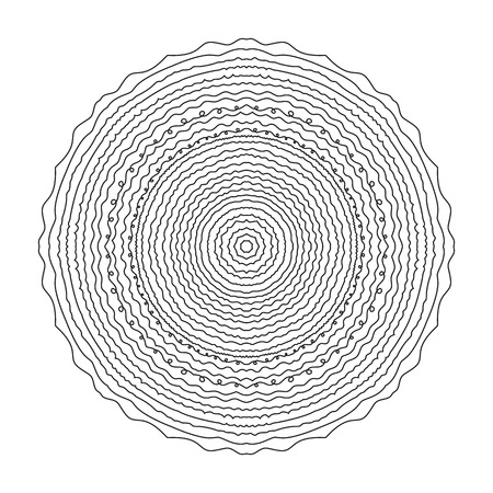 Mandala circular pattern isolated on a white background. Ethnic pattern for coloring.