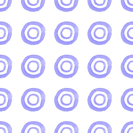 wrapper: Seamless repeating pattern of blue watercolor circles. The texture for the tile design, fabric, wrapper. Illustration