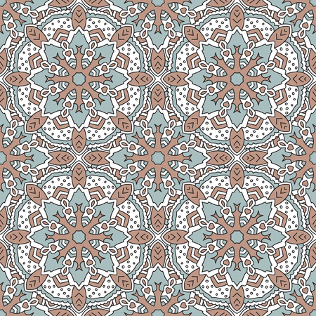 symmetrical: Seamless color pattern with symmetrical geometric pattern.