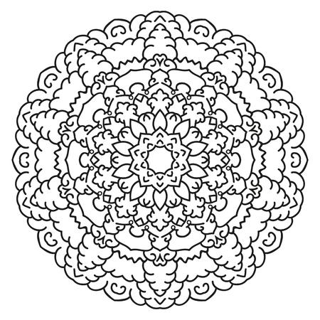 Simétrica Mandala Patrón Circular. Modelo Oriental Decorativo ...