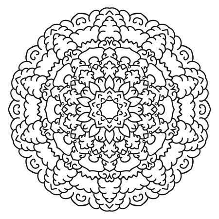 Symmetrical Circular Pattern Mandala. Decorative Oriental Pattern ...