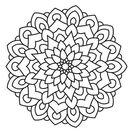 Islamitische Kleurplaten.Kleur Om Symmetrische Mandala Die Op Witte Achtergrond Wordt