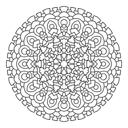 Eastern Ethnische Mandala. Rund Symmetrischen Muster. Malbuch Für ...