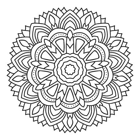 Vector mandala coloring isolated on white background