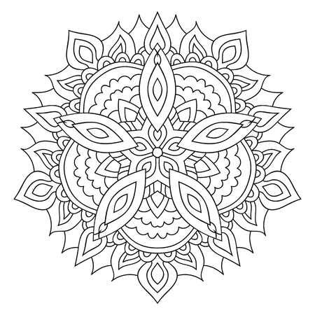 anahata: Eastern yoga ornament. Ethnic isolated mandala