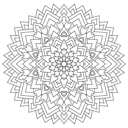 Mandala Para Atraer Dinero, Página Para Colorear Para Adultos ...
