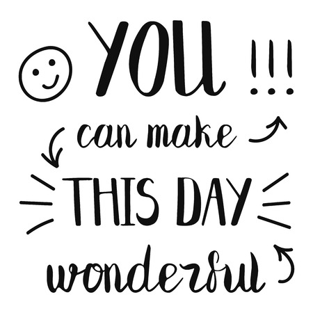 You can make this day beautiful creative lettering Standard-Bild