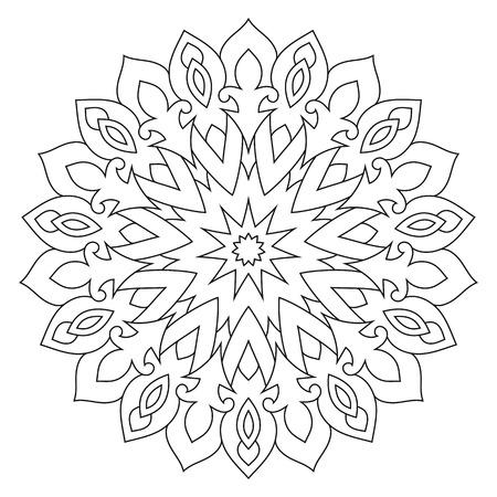 Mandala. Ethnic decorative ornament. Round flower pattern isolated on white background.