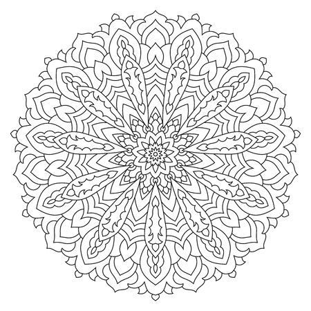 Mandala. Ethnic decorative element. Round flower ornament Illustration