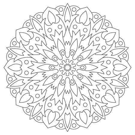 Ethnische Element Mandala. Kreismuster Malvorlage Für Lizenzfrei ...