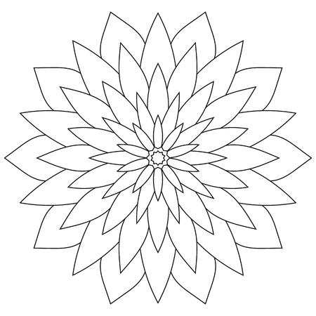 Floral mandala. Oriental round ornament decoration. Page