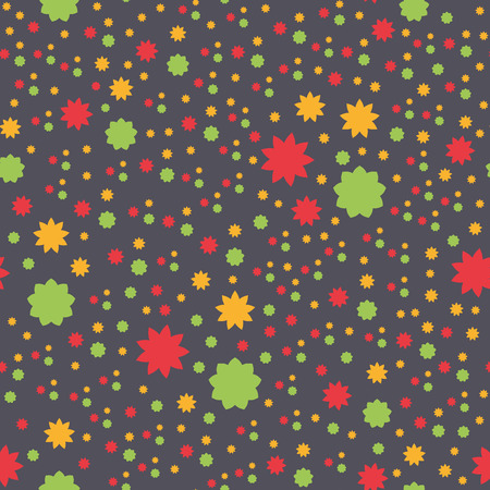 Seamless texture with abstract flowers in colors