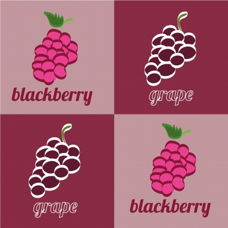 bramble: grapes and blackberrys icons