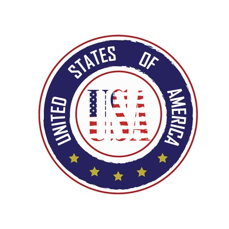 logo usa on white background Stock Vector - 20495936