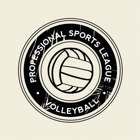 teammate: volleyball symbol on white background
