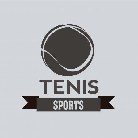 raquet: tennis icon on light blue background