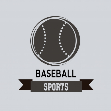 baseball icon on light blue background Vector