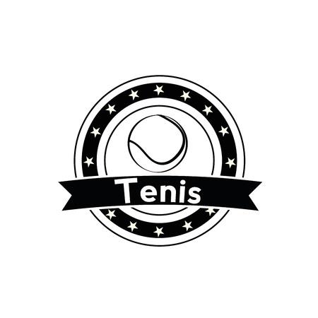 raquet: tennis icon on white background