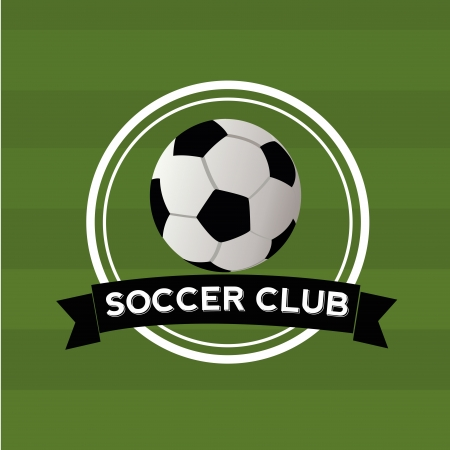 teammate: soccer club icon on green background Illustration