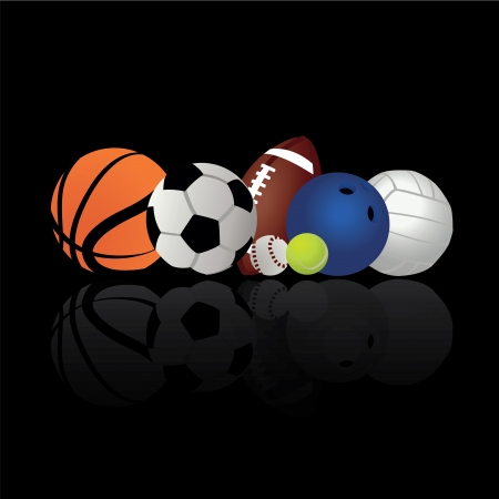 balck: sports ball on balck background
