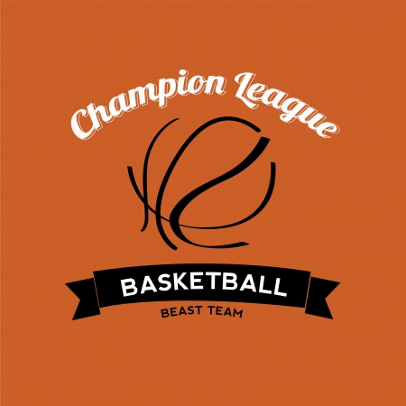 abstract basketball ball on orange background Vector