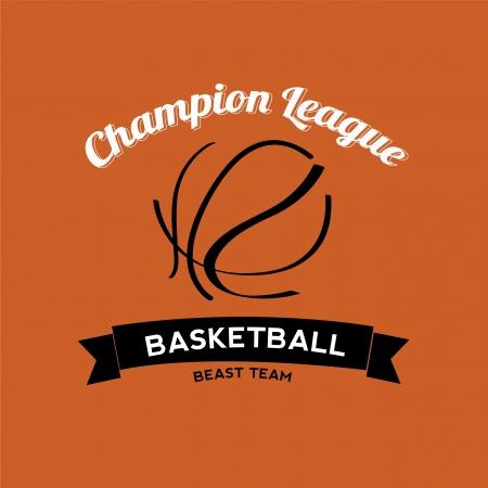 ballon basketball: abstrait ballon de basket sur fond orange