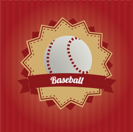 yello: baseball icon on red background
