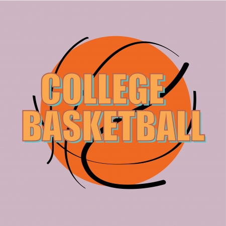 teammate: abstract basketball ball icon on purple background